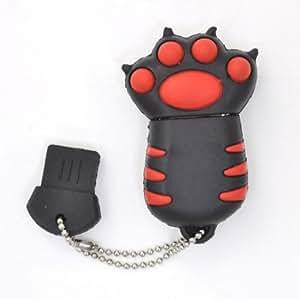 PLATA 猫の手 おもしろ USB メモリ 8GB 【 ブラック 】