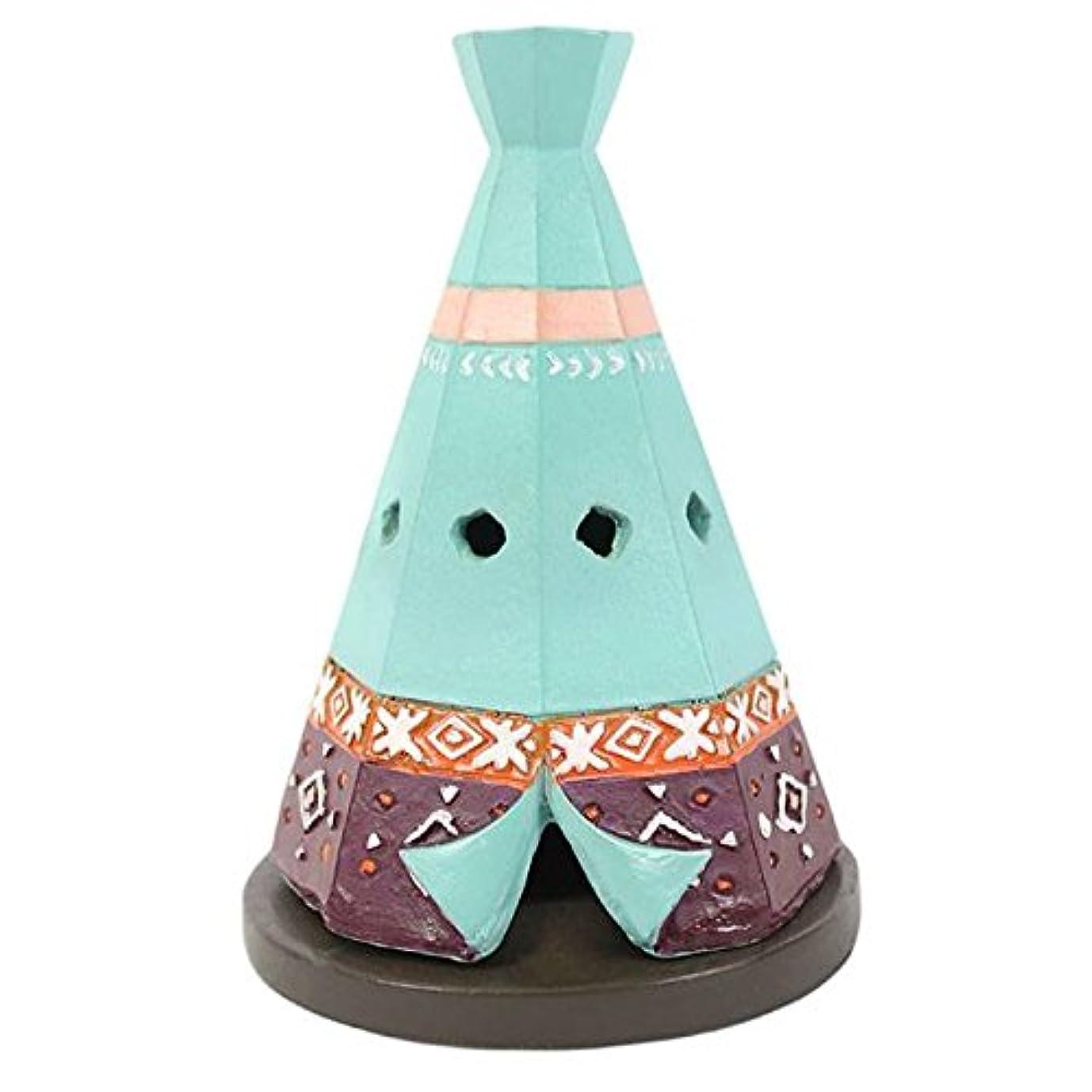 アンデス山脈ブラウン犯人Teepee / Wigwam Design Incense Cone Holder