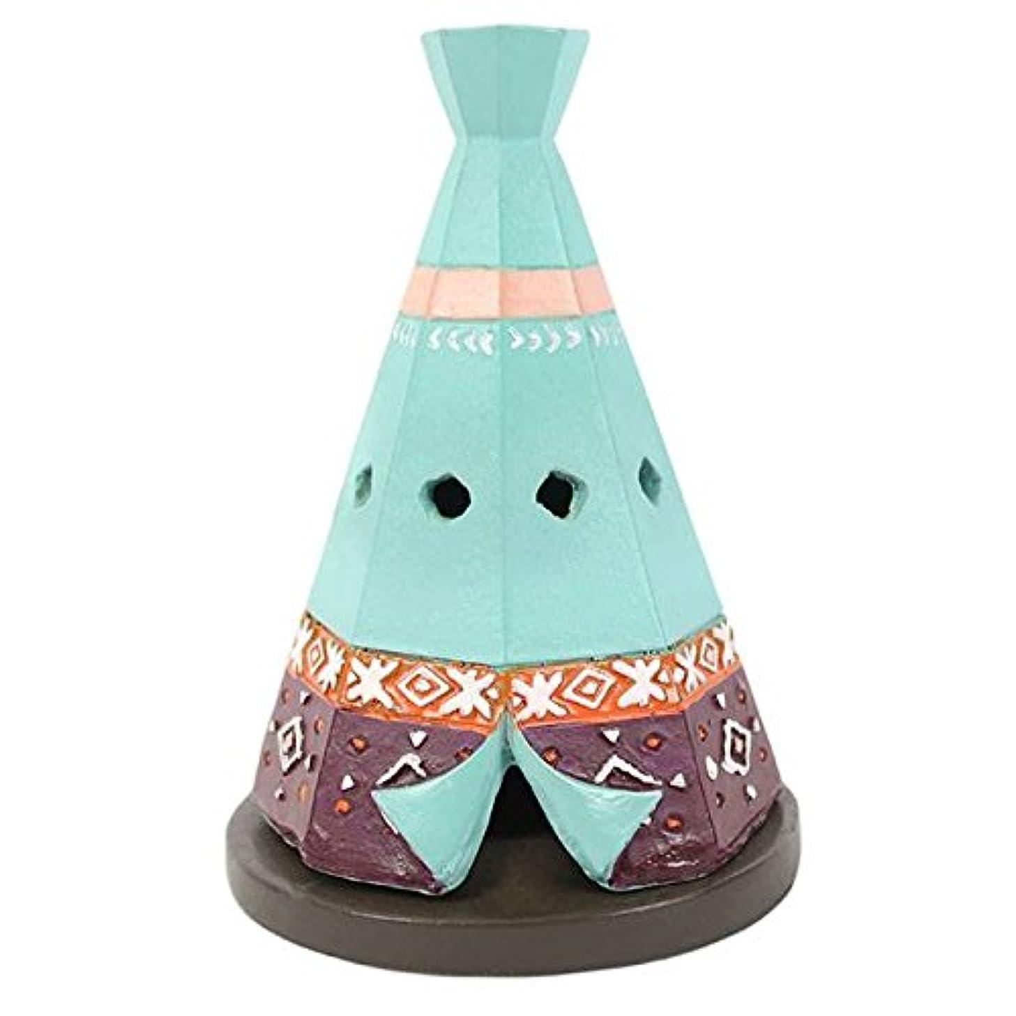 五バイオリン幸運なTeepee / Wigwam Design Incense Cone Holder