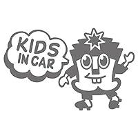 imoninn KIDS in car ステッカー 【シンプル版】 No.65 ハーイさん (シルバーメタリック)