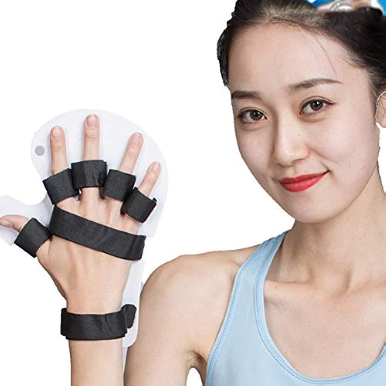 弾力性のある急行するくトリガー指スプリント、手首手サポート関節炎指スプリント、サポート親指サポート、男性女性右手左手使用