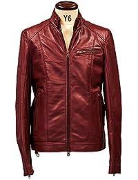 (リューグーレザーズ) Liugoo Leathers ライダースジャケット シングルライダースジャケット  Mサイズ ワインレッド