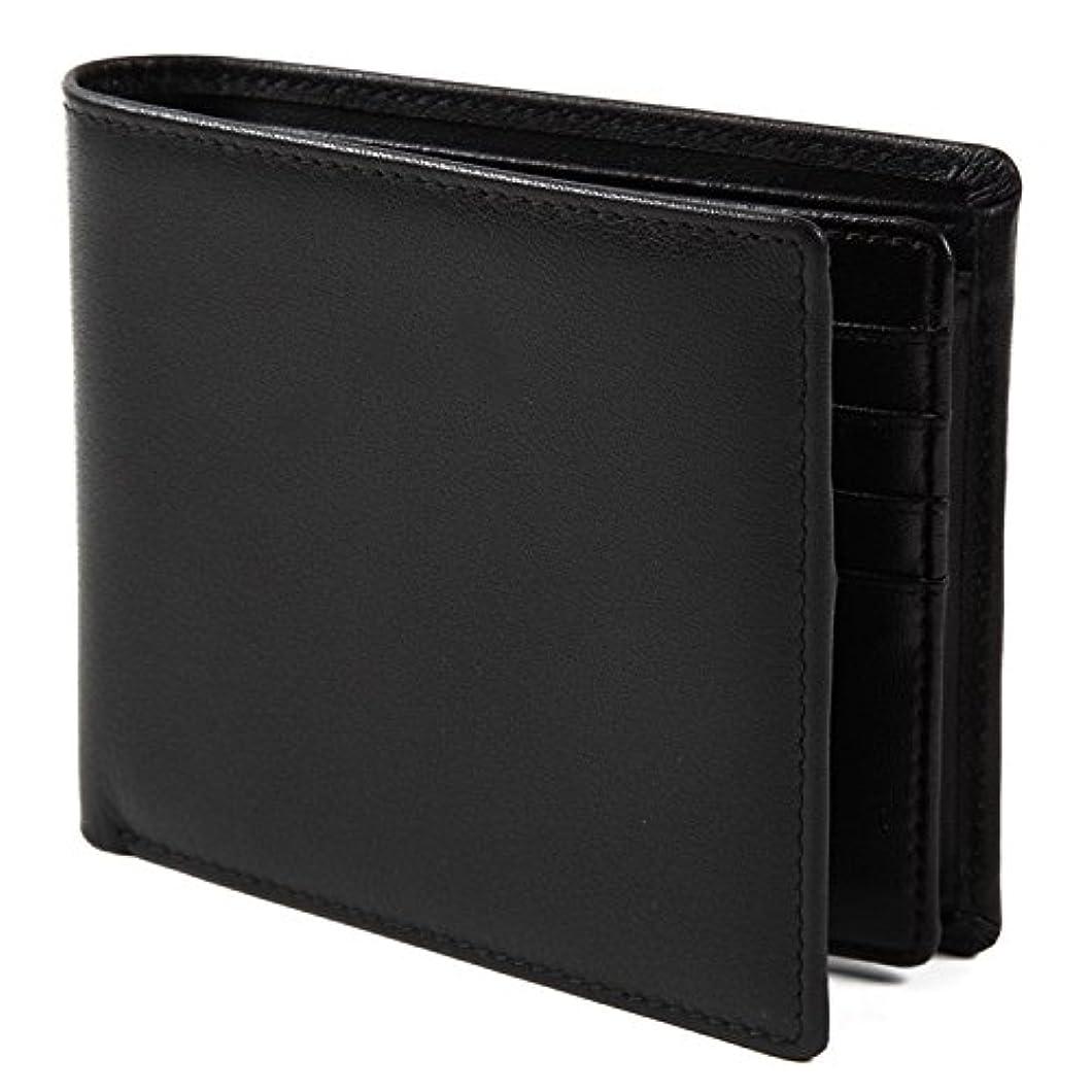 謙虚下に向けます宣教師【Avangly】二つ折り 財布 本革 大容量 メンズ ボックス型小銭入れ 隠しポケット付き 二つ折り財布
