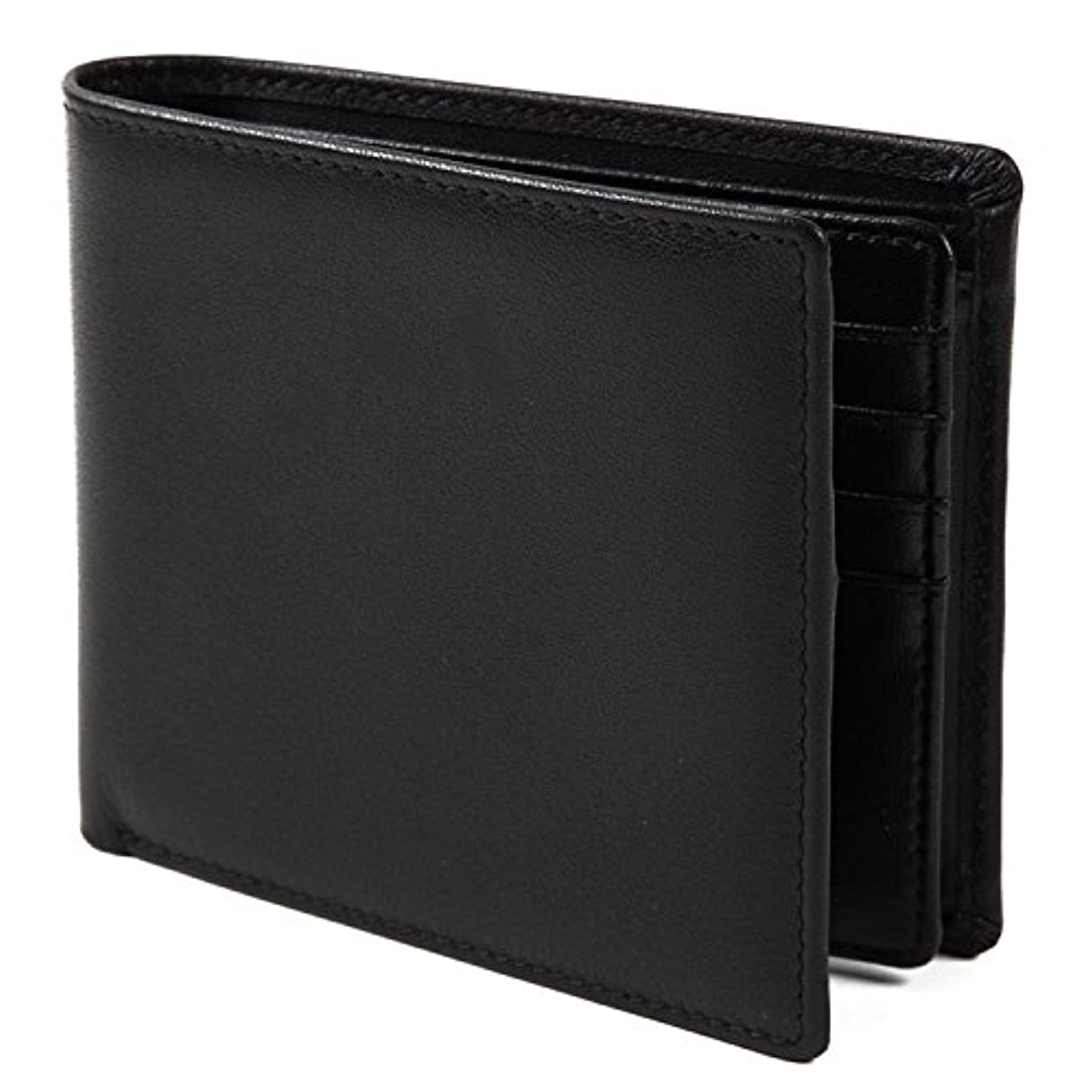相互接続わなスポット【Avangly】二つ折り 財布 本革 大容量 メンズ ボックス型小銭入れ 隠しポケット付き 二つ折り財布