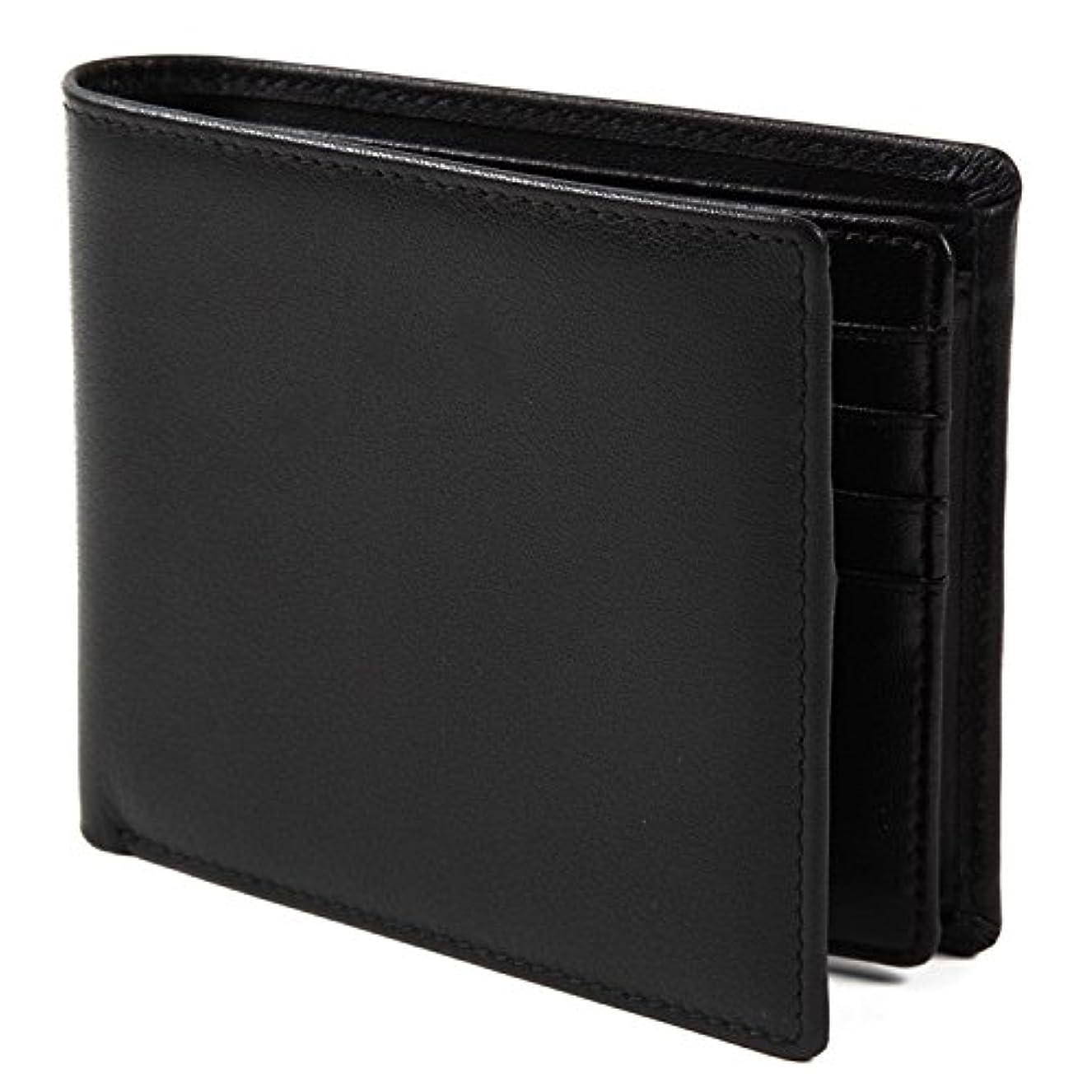 マウスブレンド常識【Avangly】二つ折り 財布 本革 大容量 メンズ ボックス型小銭入れ 隠しポケット付き 二つ折り財布