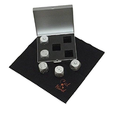 【Cat Hand(キャット ハンド)】超合金 ダイス サイコロ 5個 セット テーブルトーク RPG ボードゲーム に最適 専用ケース クリーニングクロス 付き