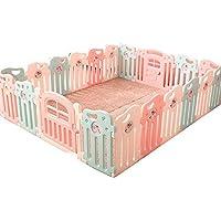 赤ちゃんの遊び場フェンス子供の安全な遊び場の男の子と女の子の安全活動ホームプレイハウス赤ん坊の幼児クロールマット (サイズ さいず : 18+2)