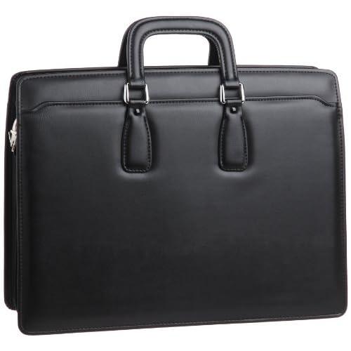 【木和田】バロックアオリブリーフバッグ 鞄の聖地兵庫県豊岡市製 5527 01 (ブラック)