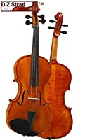 D Z Strad Violin Model 101 with Solid Wood 4/4 Full Size with Case Bow and Rosin (1/4-size) [並行輸入品]