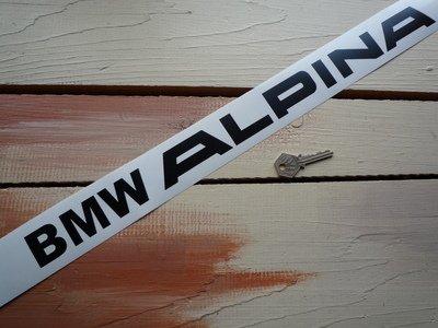 BMW 'BMW Alpina' Cut Text Sticker アルピナ ステッカー デカール シール 海外限定 995mm x 65mm [並行輸入品]