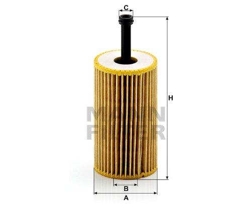 MANN オイルフィルター (プジョー/206SW) HU 612 x 【型式:GH-2EKNFU 初年:02/10-04/12】 (FABナンバー:0~ORGA/RP10072)