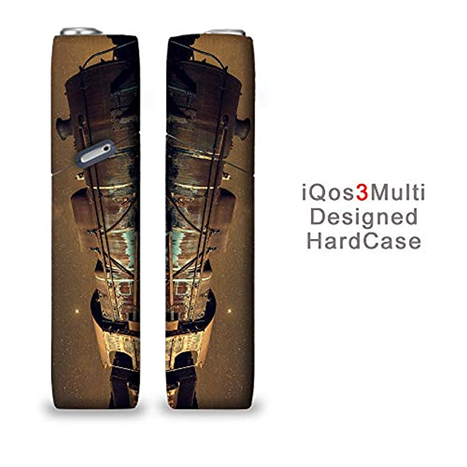 完全国内受注生産 iQOS3マルチ用 アイコス3マルチ用 熱転写全面印刷写真 汽車と星 加熱式タバコ 電子タバコ 禁煙サポート アクセサリー プラスティックケース ハードケース 日本製