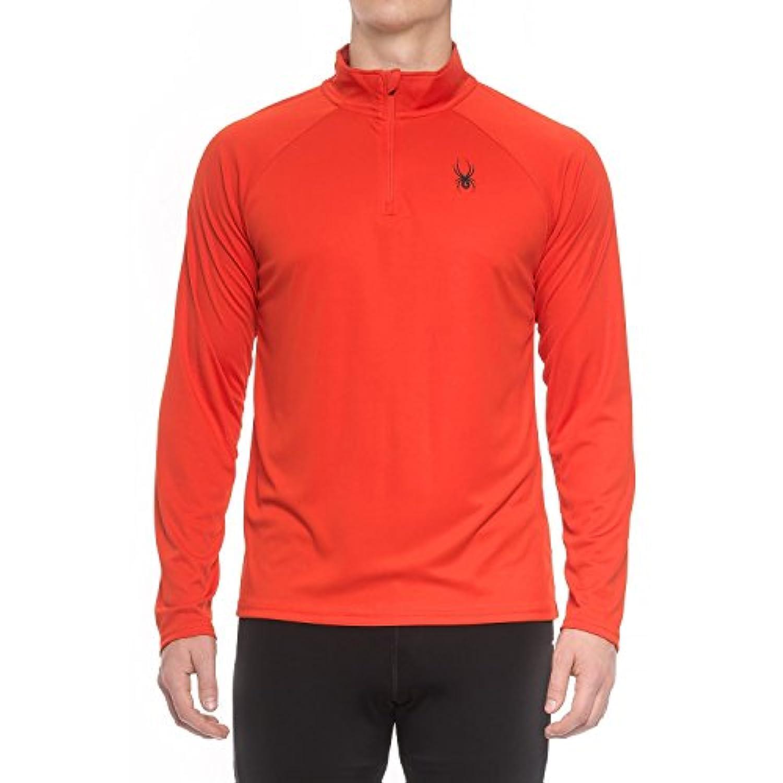 Spyderメンズアクティブdryweb Shirt – Zip Neck Volcano Large