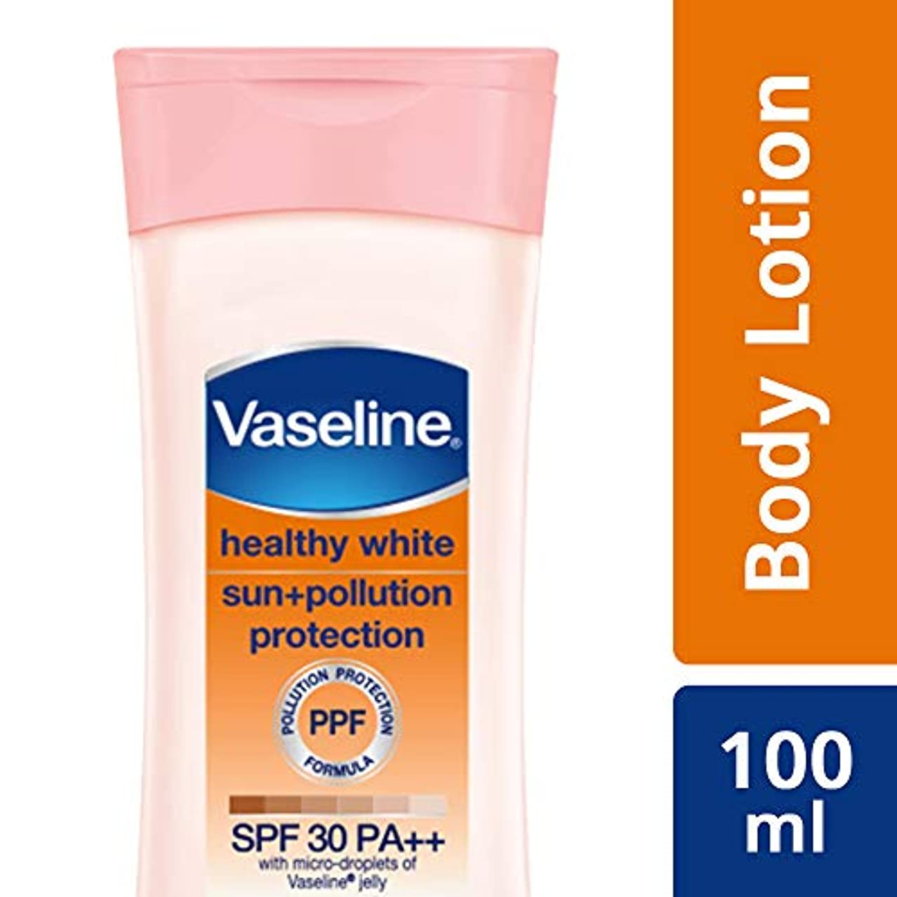 線形チキン無効にするVaseline Healthy White Sun + Pollution SPF 30 Body Lotion, 100 ml