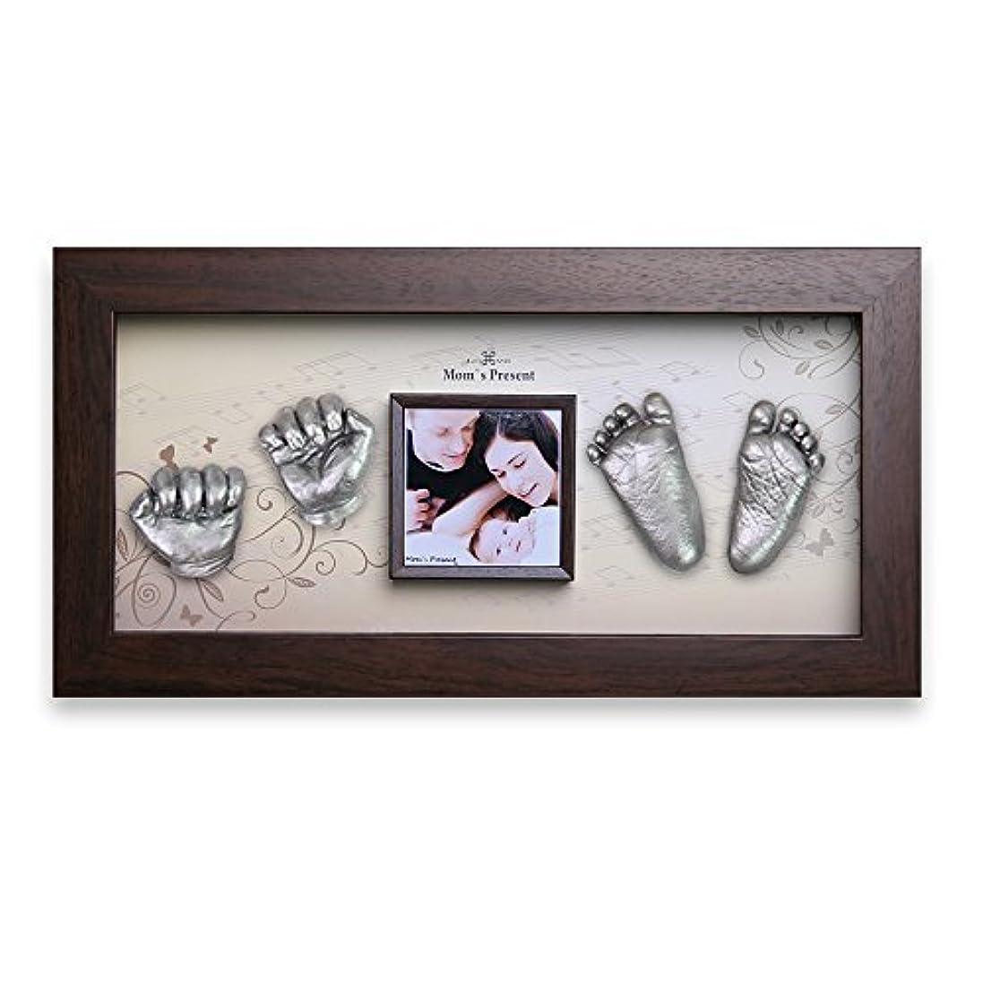 受信機避難こするMoms Present 赤ちゃんの手と足 WALNUT FRAMEで3DプリントDIYキットをキャスティング(PW-3-ピアノの森) [並行輸入品]