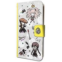 ダンガンロンパ1・2 Reload 02 ちりばめデザイン02(グラフアートデザイン) 手帳型スマホケース iPhone6/6S/7/8兼用