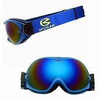 Ruiyue スキーゴーグルカラフルゴーグルプロのメンズ女性アダルトスノーブラインドダブルアンチフォグアンチサンズ (Color : Blue)