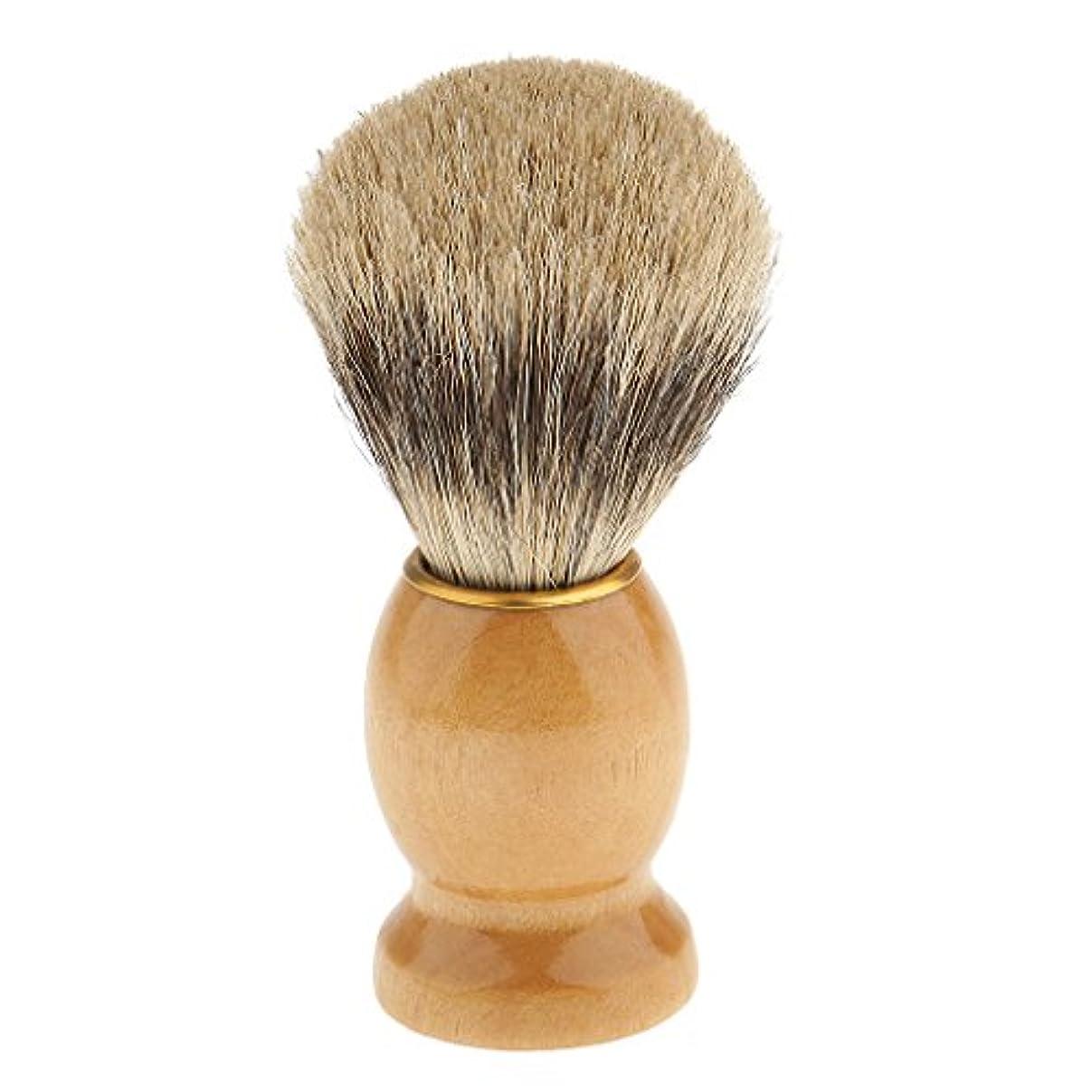 九漁師魅了するシェービングブラシ 髭剃り 泡立ち 洗顔ブラシ 髭剃りブラシ 理髪ツール サロン 全5種類 - 1