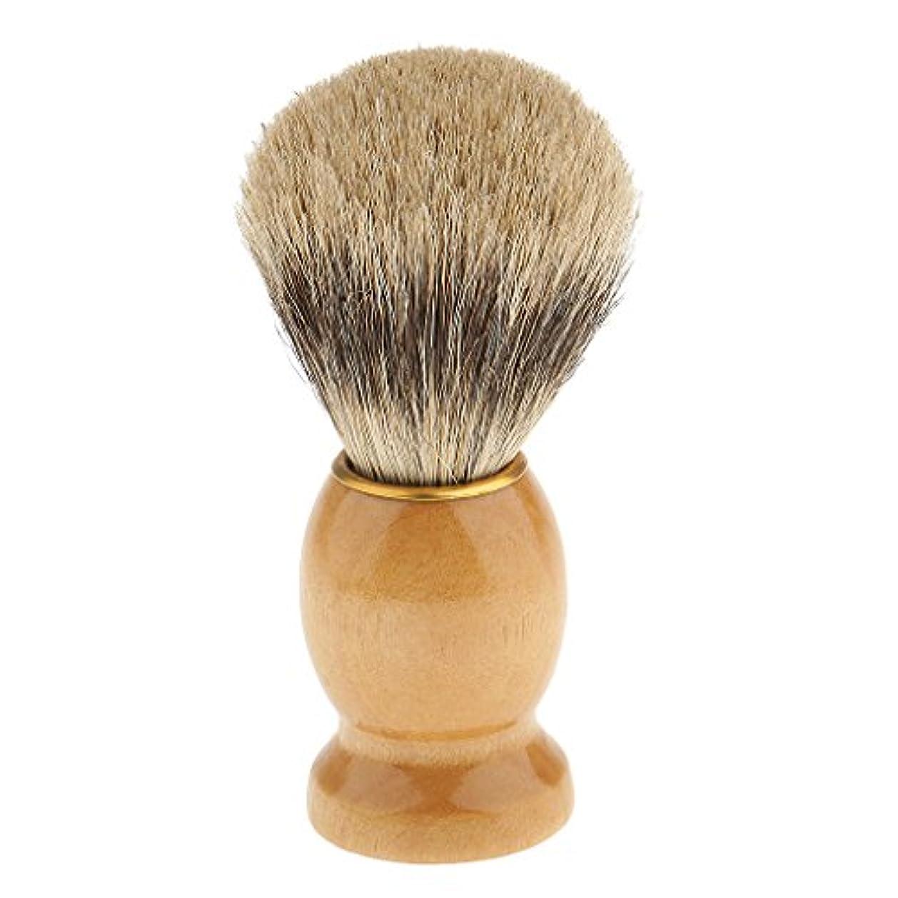 散るアルカトラズ島検体シェービングブラシ 髭剃り 泡立ち 洗顔ブラシ 髭剃りブラシ 理髪ツール サロン 全5種類 - 1