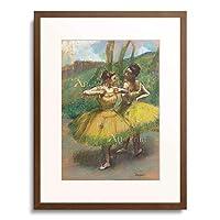 エドガー・ドガ Edgar Degas 「Two dancers in yellow. 1896」 額装アート作品