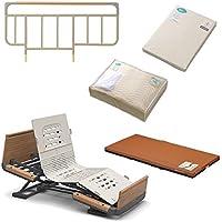 パラマウントベッド社製ベッド楽匠Z2モーションシリーズKQ-7232+マットレス+ベッドサイドレール+マットレスパッド+ボックスシーツのお得な5点セット