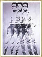 ポスター アンディ ウォーホル エルビス 1963 (トリプル エルビス) 額装品 アルミ製ベーシックフレーム(ゴールド)