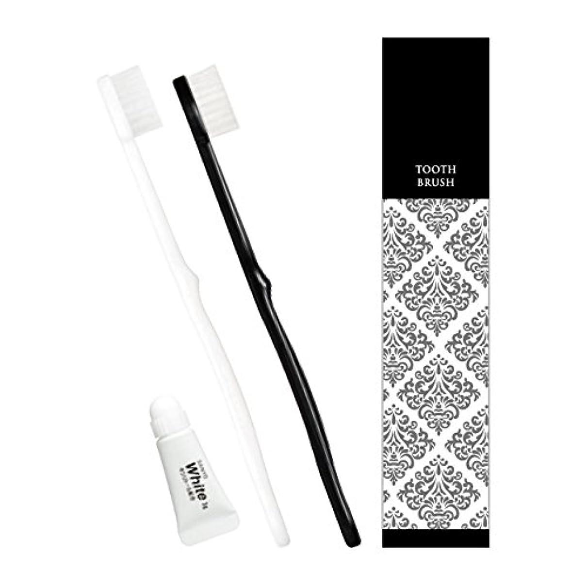 特許不純大工ピエンタ ホテル業務用ハブラシ 28穴 3gチューブ付 黒250本 白250本