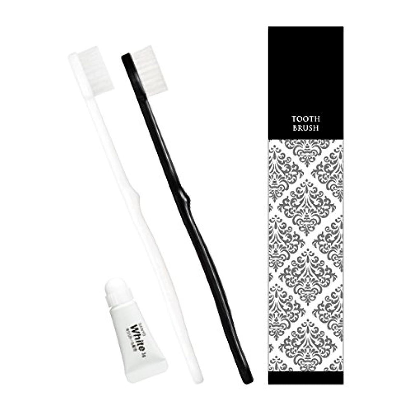 インカ帝国美容師オーガニックピエンタ ホテル業務用ハブラシ 28穴 3gチューブ付 黒250本 白250本