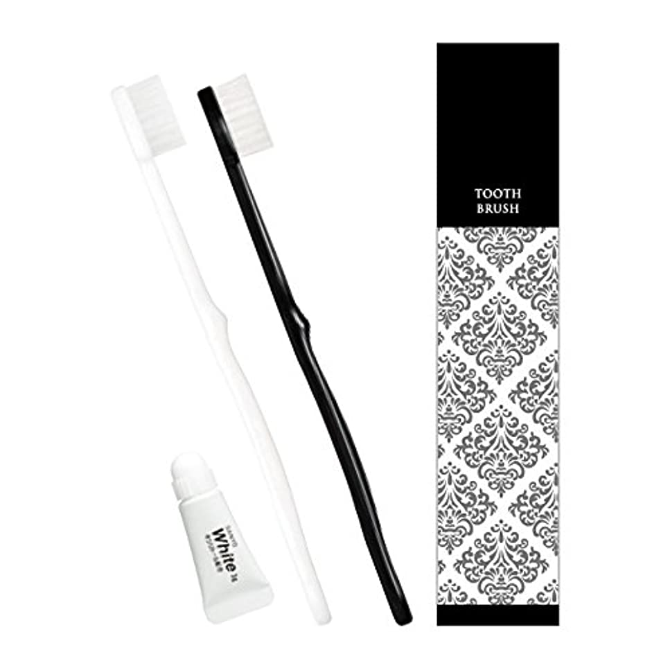 クスクス許可するもピエンタ ホテル業務用ハブラシ 28穴 3gチューブ付 黒250本 白250本