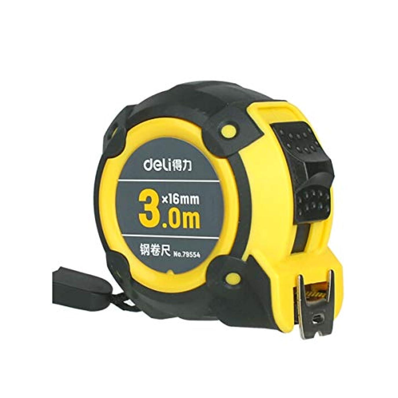 ランドリー画像繊毛HXSD 3m×16mm、5m×19mm、7.5m×25mm、ゴム付き両面スケールメトリック/インペリアル、ダブルスチールテープメジャーイエロー、3M、5M、7.5M (Color : Yellow, Size : 3m)