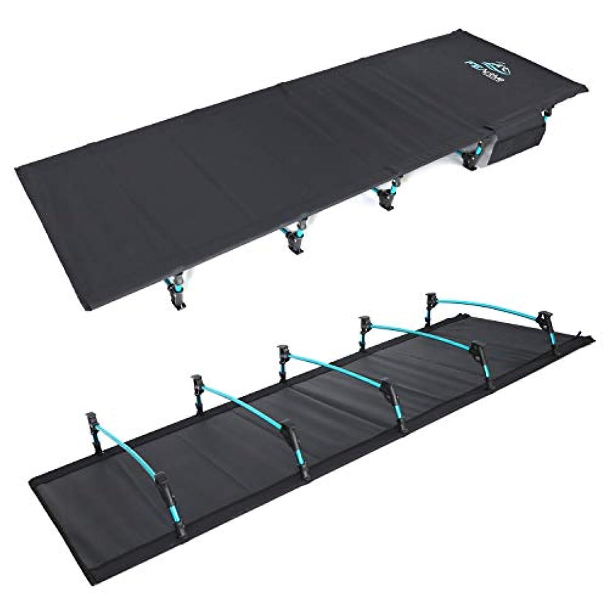 複雑な便利ベッツィトロットウッドFE Active –コンパクトな折りたたみ式ベッド、アルミニウム製 超軽量?持ち運び可能なキャンピングベッド、ハイキング?トレッキング?バックパッキング用 | デザイン:アメリカ?カリフォルニア