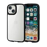 エレコム iPhone 5.4inch ハイブリッドケース TOUGH SLIM LITE フレームカラー ブラック PM-A21ATSLFCBK