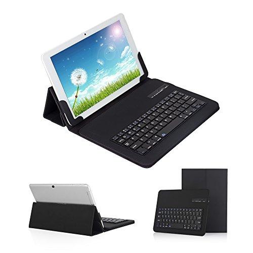 【Ewin】9.7~10.1インチ タブレットキーボードケース キーボード分離可能 Bluetooth 3.0四段階調整可能 ス...