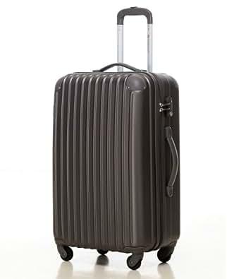 スーツケース・キャリーケース・軽量・小型・機内持ち込み・TSAロック・半鏡面仕上げTravelhouse(SS, grey)