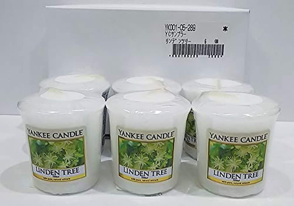 繰り返したロゴタンパク質ヤンキーキャンドル サンプラー お試しサイズ リンデンツリー 6個セット 燃焼時間約15時間 YANKEECANDLE アメリカ製