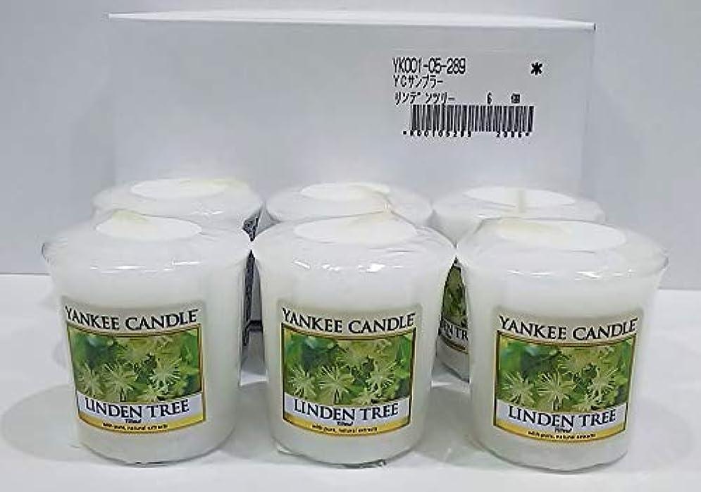 お願いします修羅場衣類ヤンキーキャンドル サンプラー お試しサイズ リンデンツリー 6個セット 燃焼時間約15時間 YANKEECANDLE アメリカ製