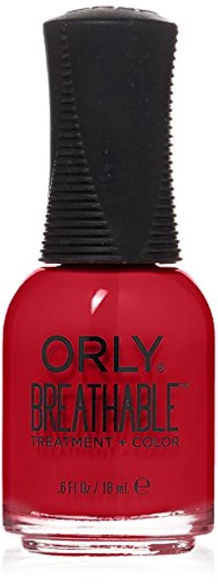 影響を受けやすいです悲劇的な強調するOrly Breathable Treatment + Color Nail Lacquer - Love My Nails - 0.6oz/18ml