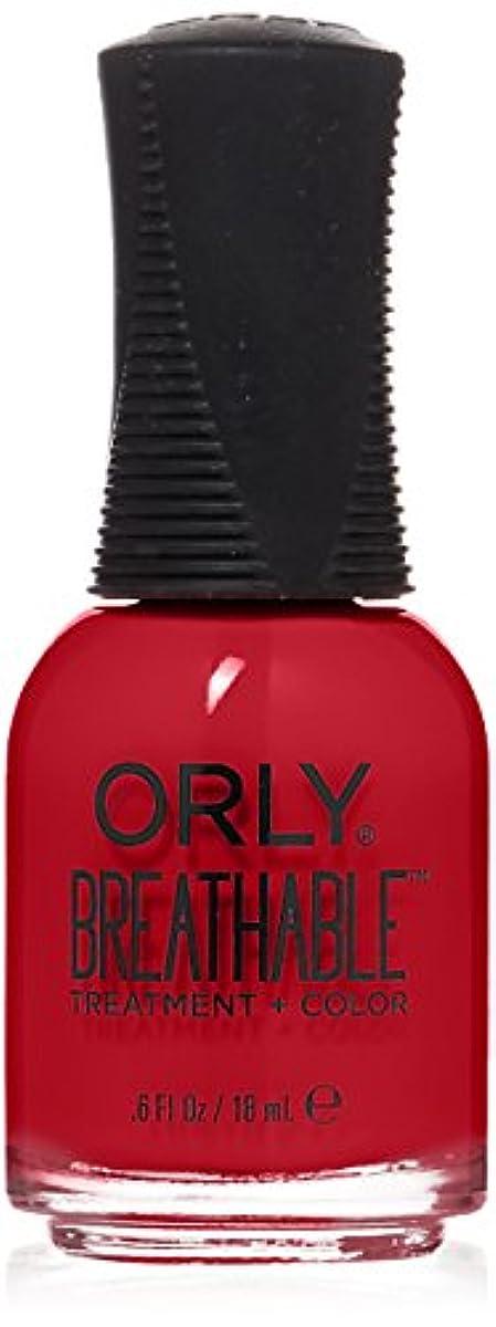 モトリー流星心のこもったOrly Breathable Treatment + Color Nail Lacquer - Love My Nails - 0.6oz/18ml