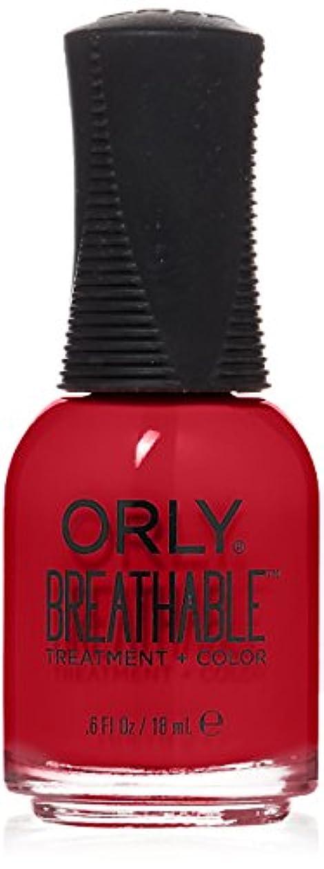 インカ帝国暖かくインスタンスOrly Breathable Treatment + Color Nail Lacquer - Love My Nails - 0.6oz/18ml