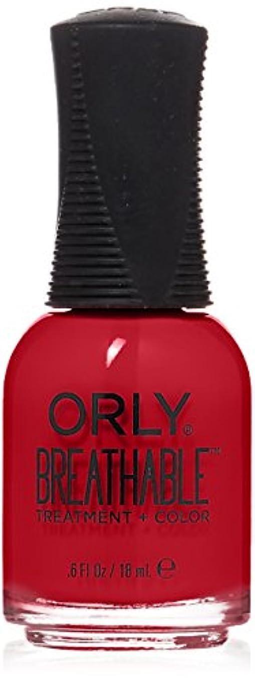 つかいます休日に恐怖Orly Breathable Treatment + Color Nail Lacquer - Love My Nails - 0.6oz/18ml