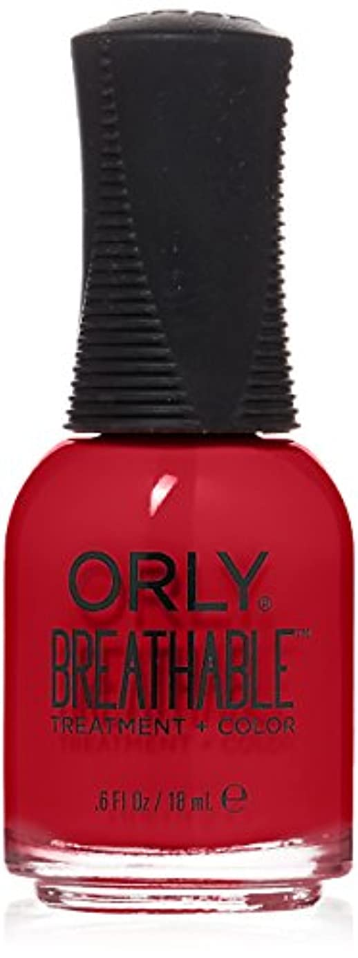 怖がらせる雇用者荷物Orly Breathable Treatment + Color Nail Lacquer - Love My Nails - 0.6oz/18ml