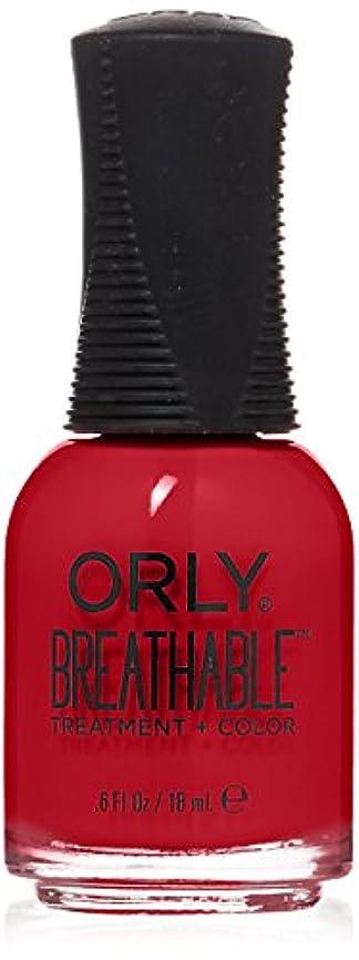 宙返り状況花Orly Breathable Treatment + Color Nail Lacquer - Love My Nails - 0.6oz/18ml