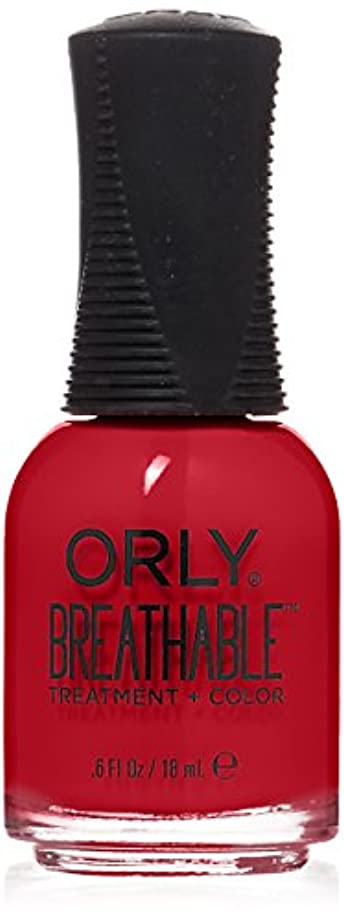 成熟した熱心な有効化Orly Breathable Treatment + Color Nail Lacquer - Love My Nails - 0.6oz/18ml