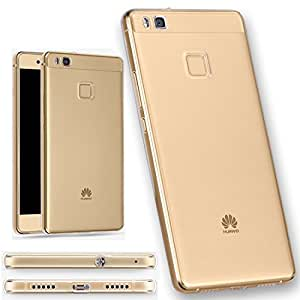 [LivelyLife]Huawei P9 lite ケース TPU 防塵キャップ付き ファーウェイ P9liteカバー 極薄 透明