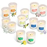 YIIA Scented Candles 12 Pack Gift Set, Aromatherapy Set of Fragrance Soy Wax, 12-15 Hours Burn Time Per Cup, 12 x 2 Oz for St