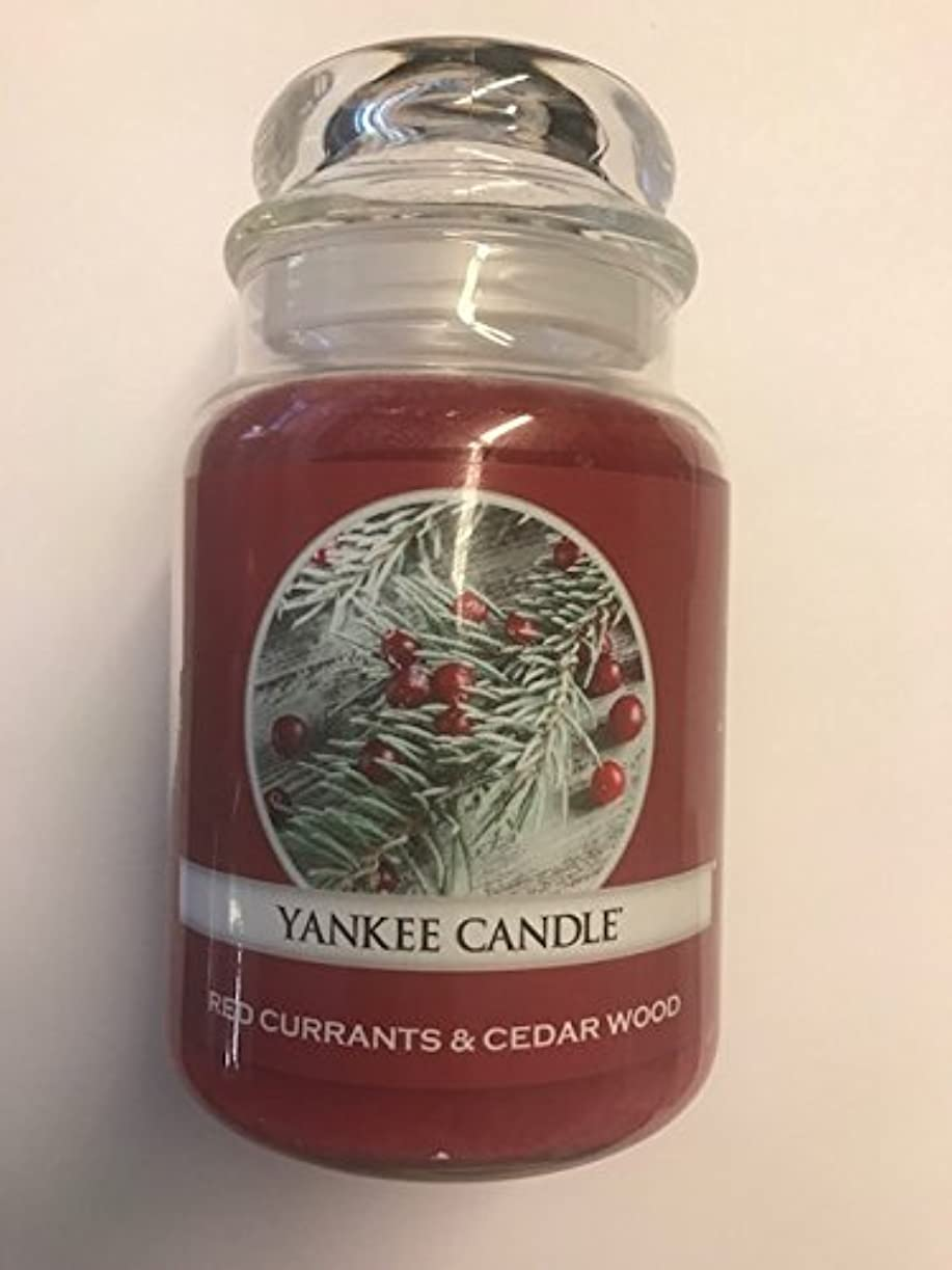 薬ロードされた晩餐Red Currants & Cedar Wood Yankee Candle / 22 0z