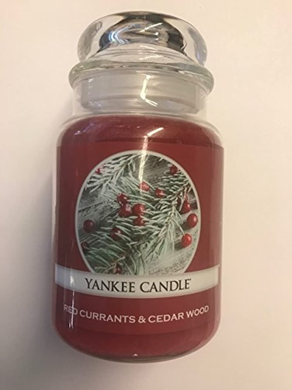 Red Currants & Cedar Wood Yankee Candle / 22 0z