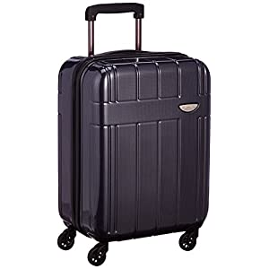 [エバウィン] 軽量スーツケース 【Amazon.co.jp限定】機内持込可 容量35L 縦サイズ54cm 重量2.8kg EW31233 NVC ネイビーカーボン ネイビーカーボン