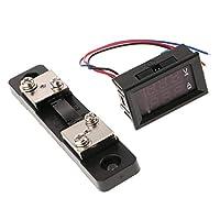 B Baosity 全5種 デジタル電圧電流計 分流器付き DC 0-100V デュアルディスプレイ LEDモーター   - 50A + 50A 赤x2