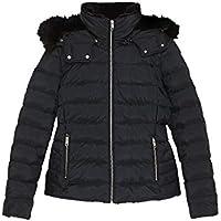 Zara Women Hooded Down Puffer Jacket 8073/223 Blue